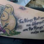 Pu der Bär Tattoo, Innenseite Unterarm