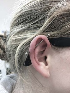Industrial Ohrpiercing