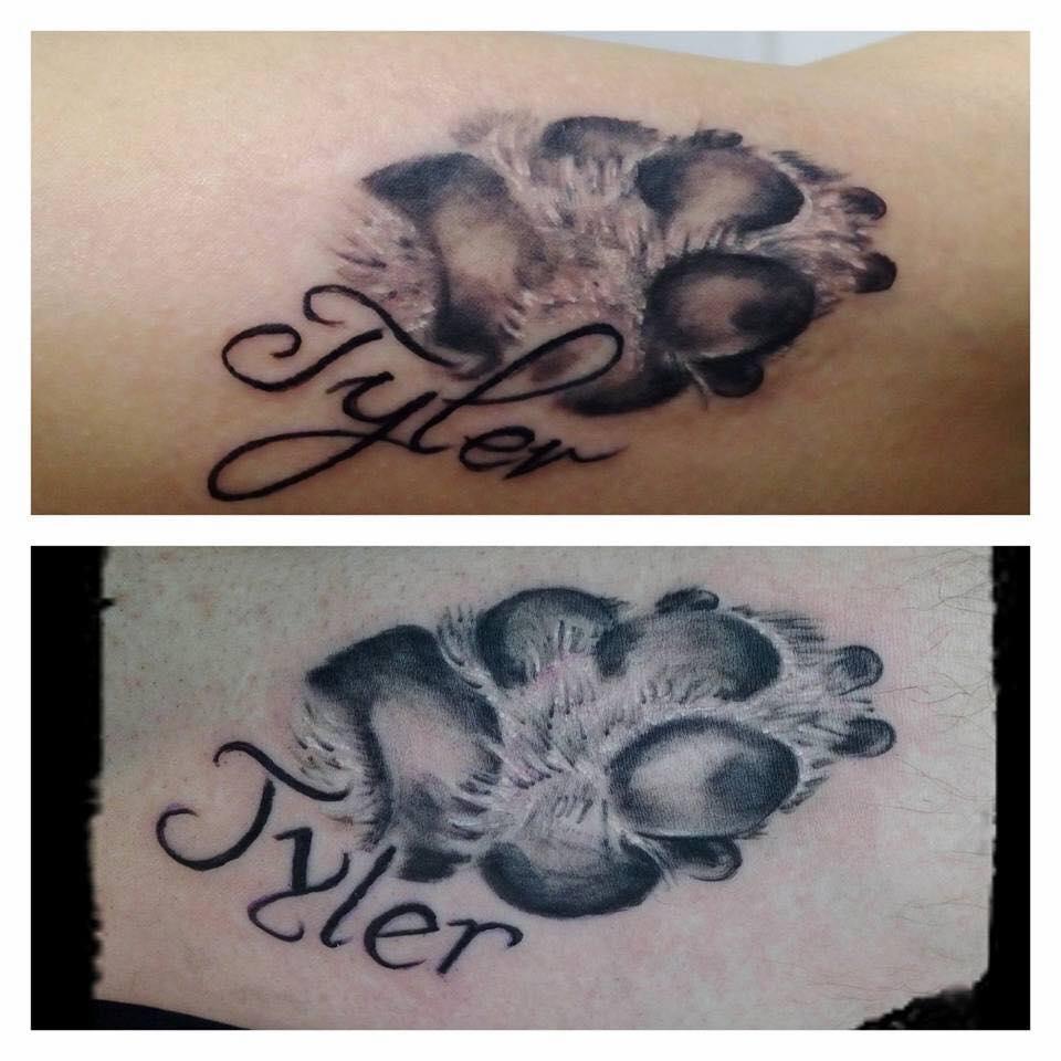 Hundepfoten Tattoos