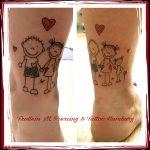 Strichmännchen Tattoo