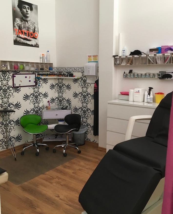 Piercing und Tattoo Raum