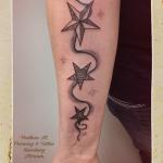 Dreieck Happy geometrisches Tattoo