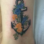Flower Anchor Tattoo