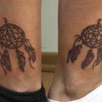 Dreamcatcher coloured Tattoo