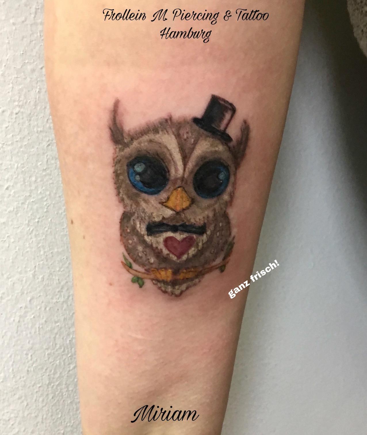 eule tattoo frollein m tattoo miriam frollein m piercing und tattoostudio hamburg. Black Bedroom Furniture Sets. Home Design Ideas