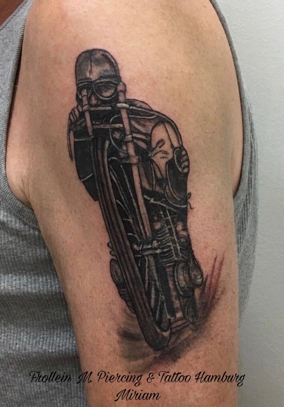 vintage Biker Tattoo