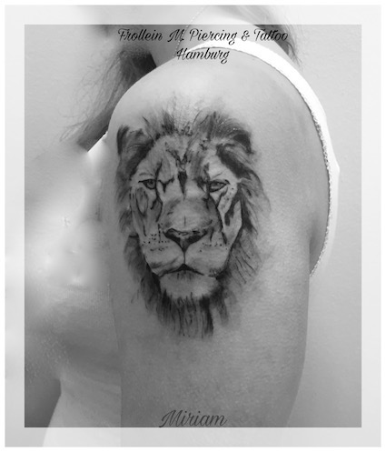 Lion Tattoo, Miriam, Frolein M. Piericing & Tattoo