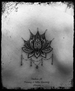 Lotus Flower Ornamentic Tattoo, Frollein M., Miriam
