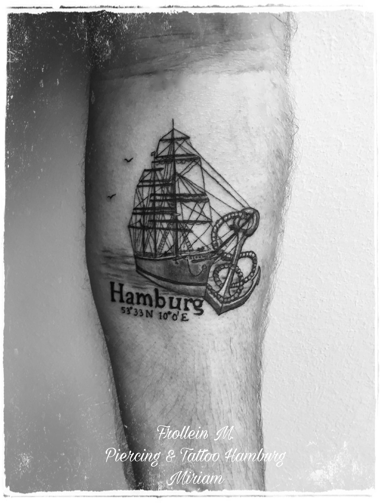 Hamburg Rickmer Rickmers Tattoo, Frollein M