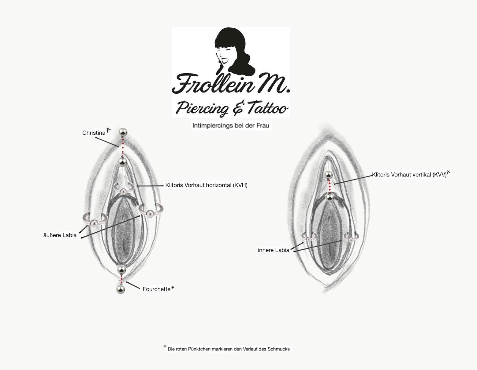Vertikal klitorisvorhaur piercing Vertikal lowbret